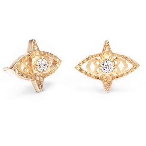 KENDRA SCOTT CROSBY EARRINGS IN GOLD